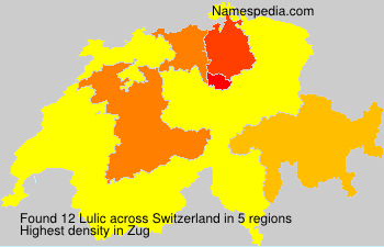 Surname Lulic in Switzerland