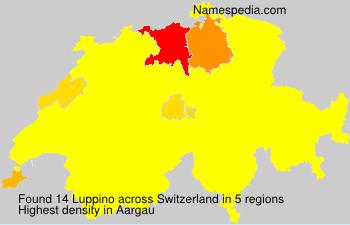 Surname Luppino in Switzerland