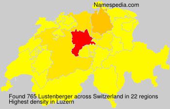 Surname Lustenberger in Switzerland