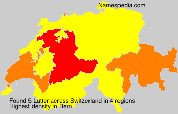 Surname Lutter in Switzerland