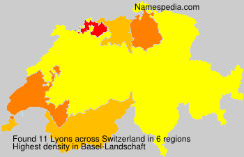 Surname Lyons in Switzerland