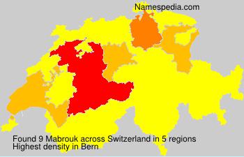 Familiennamen Mabrouk - Switzerland
