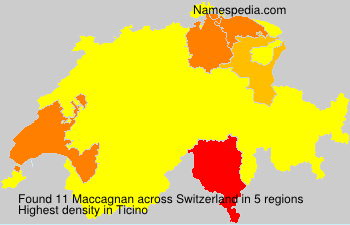 Surname Maccagnan in Switzerland