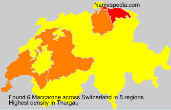 Surname Maccarone in Switzerland