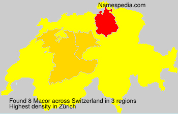 Surname Macor in Switzerland