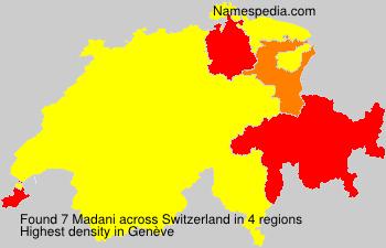 Surname Madani in Switzerland