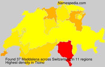 Surname Maddalena in Switzerland