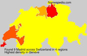 Surname Madrid in Switzerland
