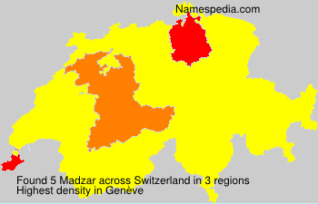 Surname Madzar in Switzerland