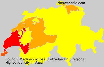 Familiennamen Magliano - Switzerland