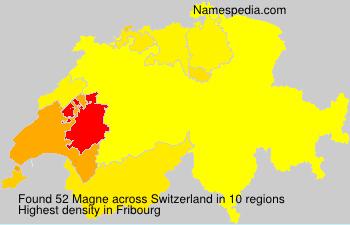 Surname Magne in Switzerland