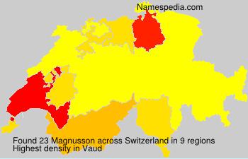 Surname Magnusson in Switzerland