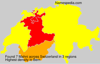 Surname Mahni in Switzerland
