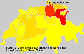 Surname Mahr in Switzerland