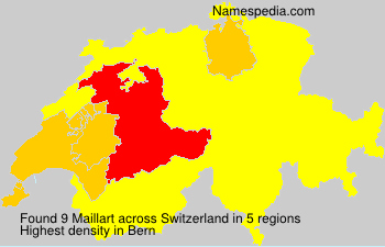 Surname Maillart in Switzerland