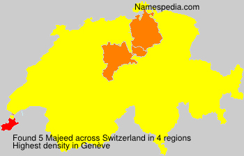 Surname Majeed in Switzerland