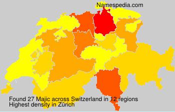 Surname Majic in Switzerland