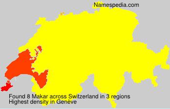 Surname Makar in Switzerland