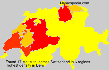 Surname Maksutaj in Switzerland