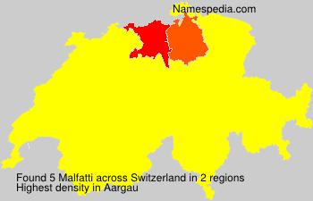 Surname Malfatti in Switzerland