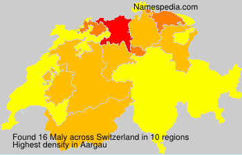 Surname Maly in Switzerland