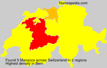 Surname Manazza in Switzerland