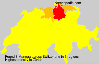 Surname Manega in Switzerland