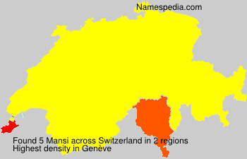 Surname Mansi in Switzerland