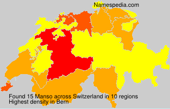 Surname Manso in Switzerland