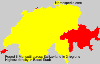 Surname Mansutti in Switzerland