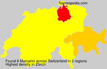 Surname Marcarini in Switzerland