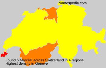 Surname Marcelli in Switzerland