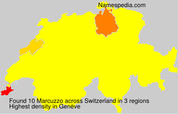 Surname Marcuzzo in Switzerland