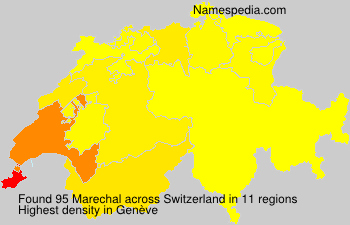 Surname Marechal in Switzerland