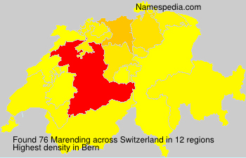 Surname Marending in Switzerland