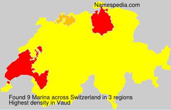 Surname Marina in Switzerland