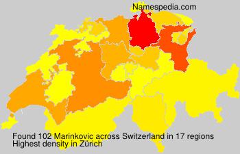 Surname Marinkovic in Switzerland