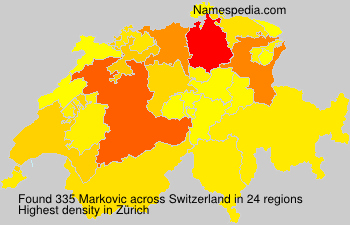 Surname Markovic in Switzerland