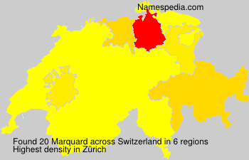 Surname Marquard in Switzerland