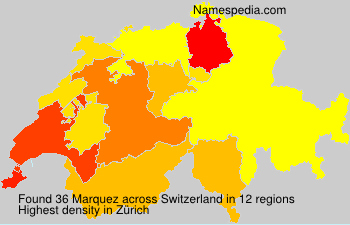 Surname Marquez in Switzerland