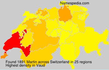 Surname Martin in Switzerland