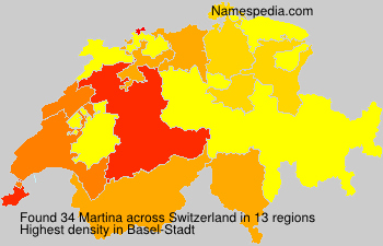 Familiennamen Martina - Switzerland