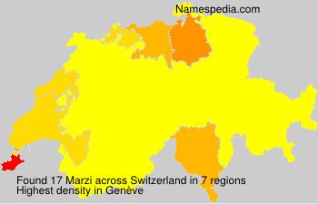 Surname Marzi in Switzerland