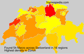 Surname Marzo in Switzerland
