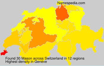 Surname Mason in Switzerland