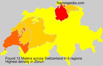 Surname Matera in Switzerland