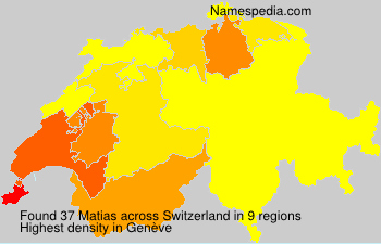 Surname Matias in Switzerland
