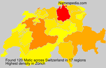 Surname Matic in Switzerland