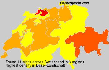 Surname Matiz in Switzerland