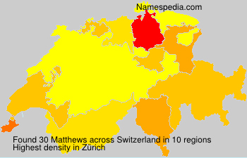 Surname Matthews in Switzerland